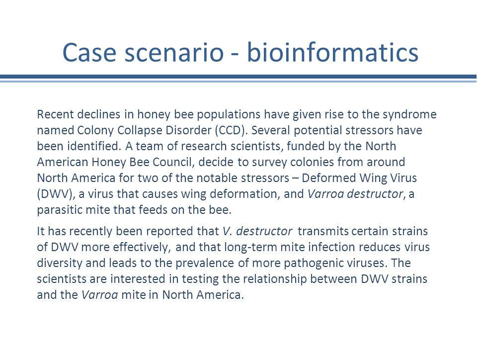 Case scenario - bioinformatics