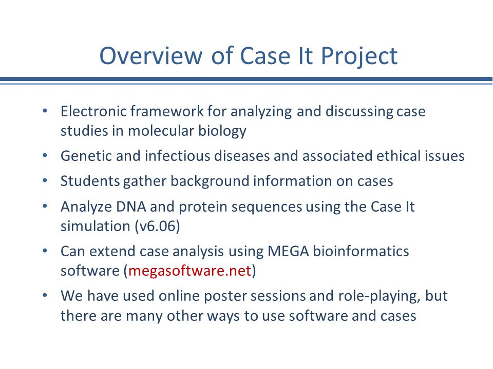 Overview of Case It Project