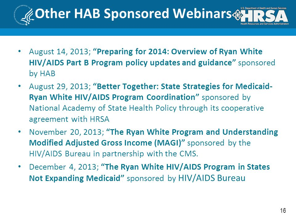 Other HAB Sponsored Webinars