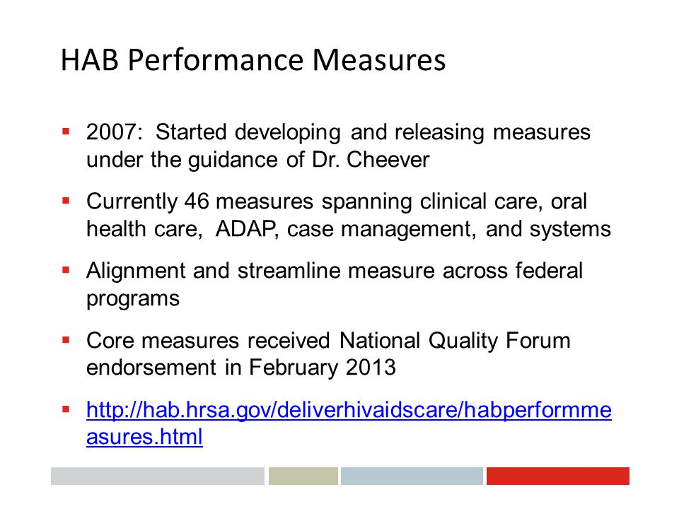 HAB Performance Measures