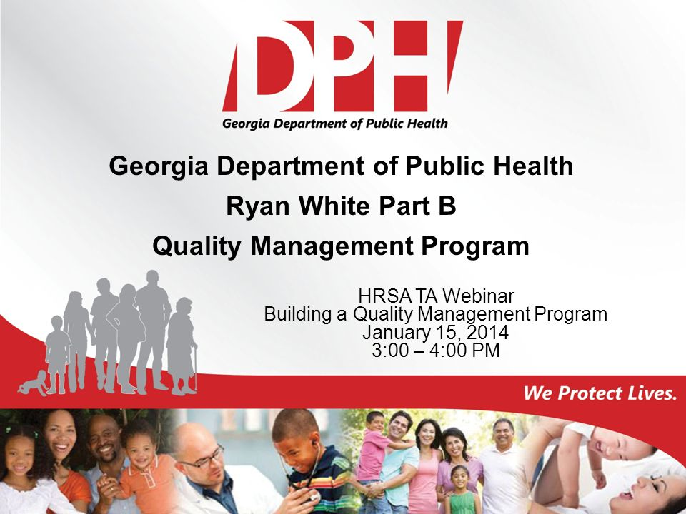 Georgia Department of Public Health Quality Management Program