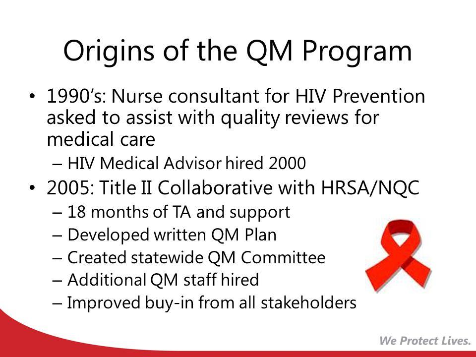 Origins of the QM Program