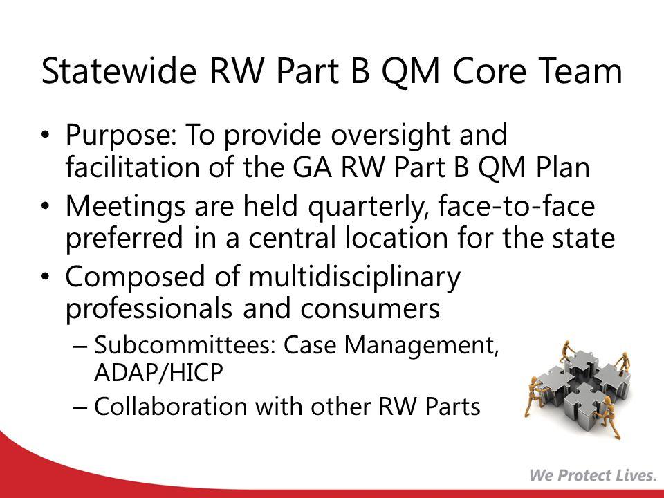Statewide RW Part B QM Core Team