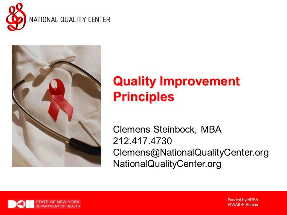 Quality Improvement Principles