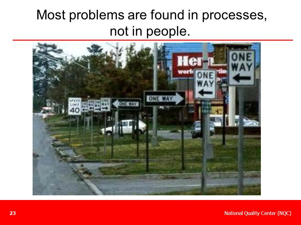 Most problems are found in processes, not in people.