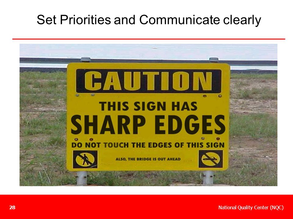 Set Priorities and Communicate clearly