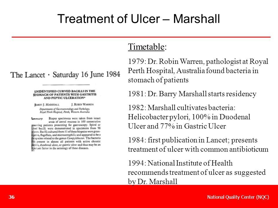 Treatment of Ulcer – Marshall