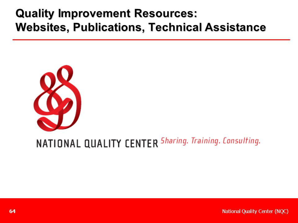 Quality Improvement Resources: Websites, Publications, Technical Assistance