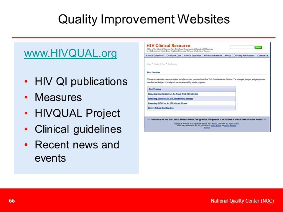 Quality Improvement Websites