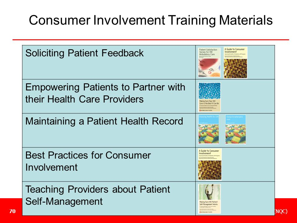 Consumer Involvement Training Materials