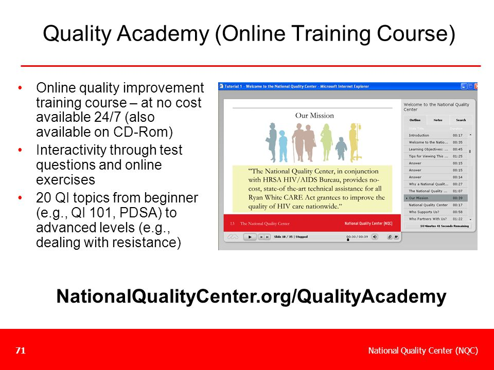 Quality Academy (Online Training Course)