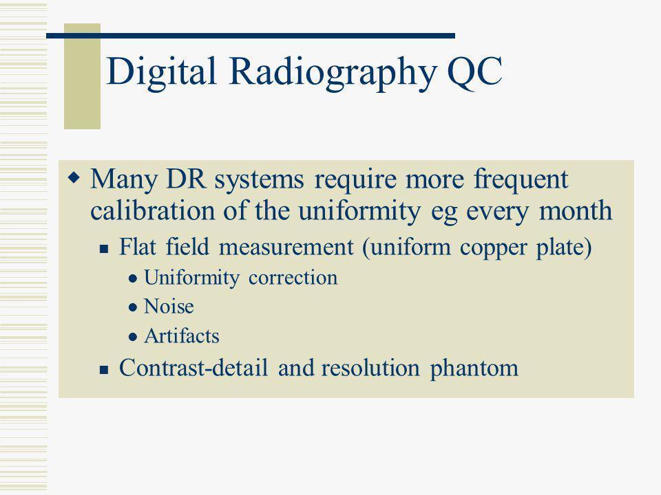 Digital Radiography QC