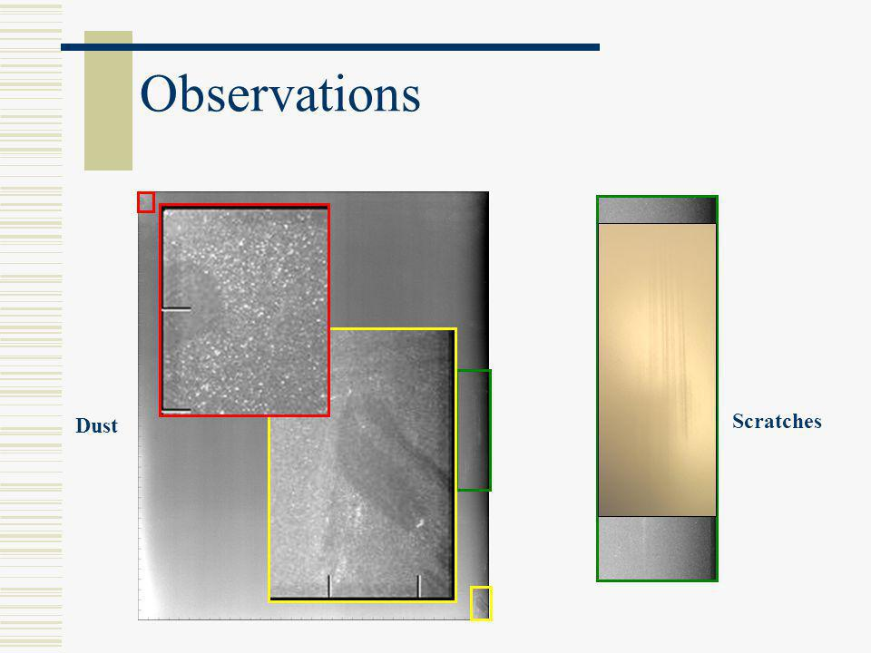 Observations Scratches Dust Lastly, we will look at Kodak IPs.