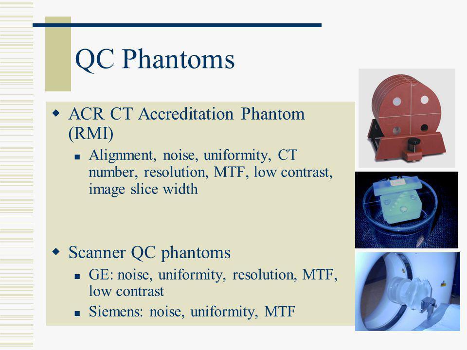 QC Phantoms ACR CT Accreditation Phantom (RMI) Scanner QC phantoms