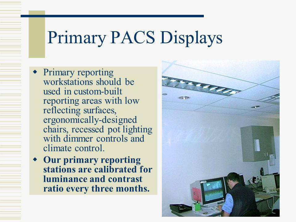Primary PACS Displays