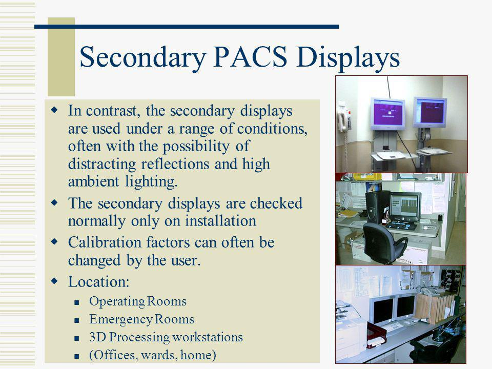 Secondary PACS Displays