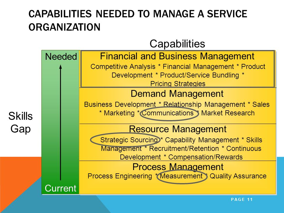 Capabilities Needed to Manage a Service Organization