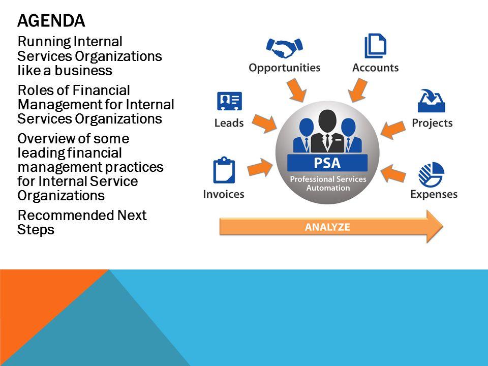 Agenda Running Internal Services Organizations like a business