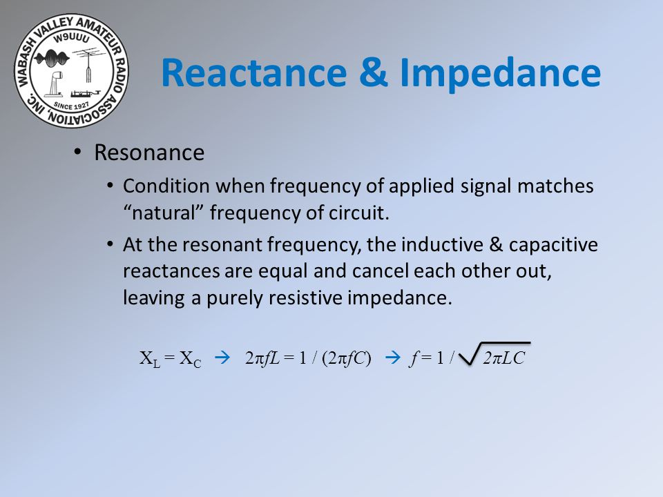Reactance & Impedance Resonance