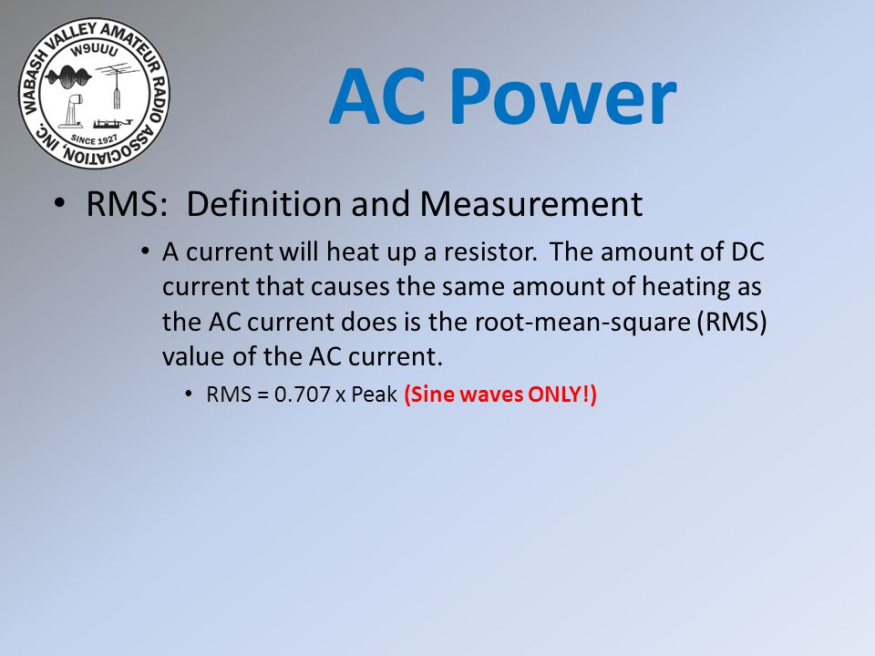 AC Power RMS: Definition and Measurement
