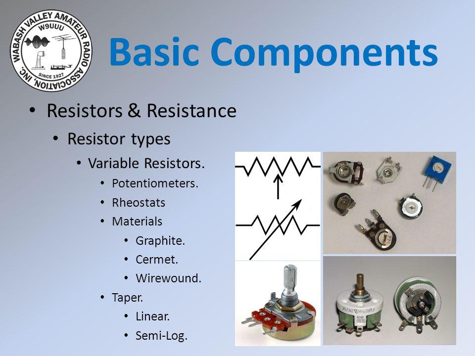 Basic Components Resistors & Resistance Resistor types