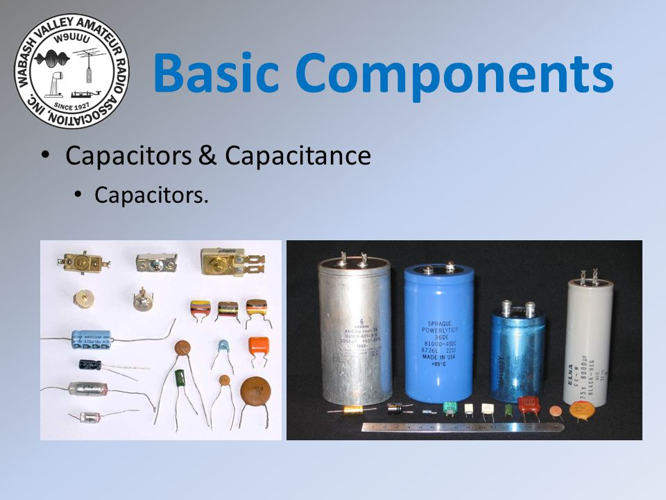 Basic Components Capacitors & Capacitance Capacitors.