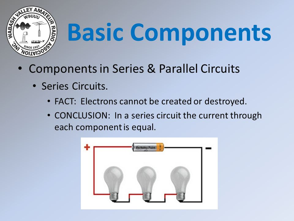 Basic Components Components in Series & Parallel Circuits
