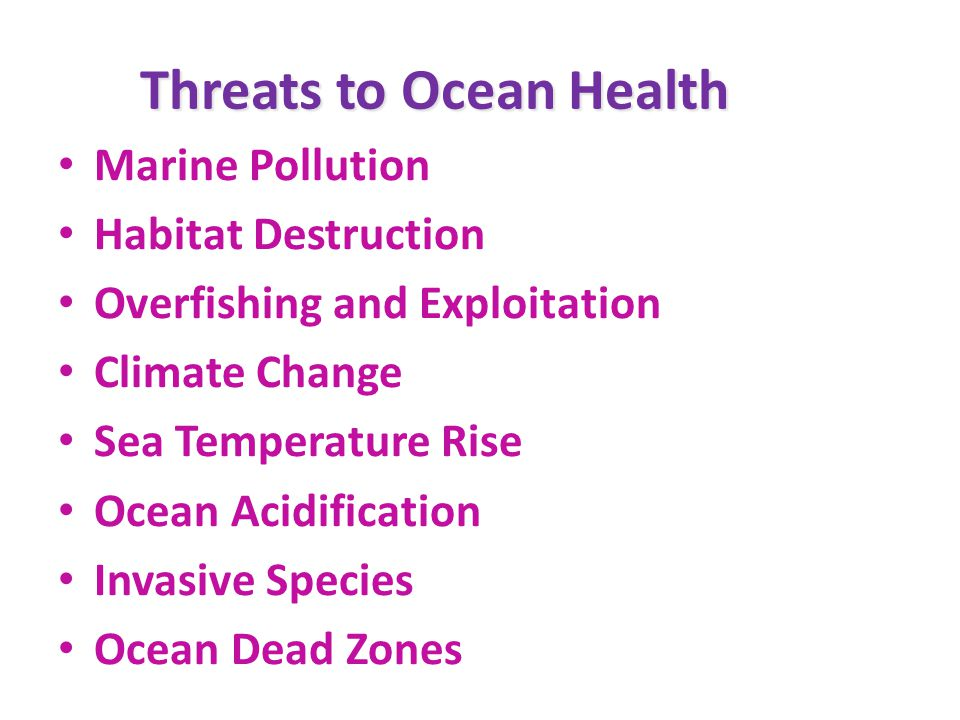 Threats to Ocean Health