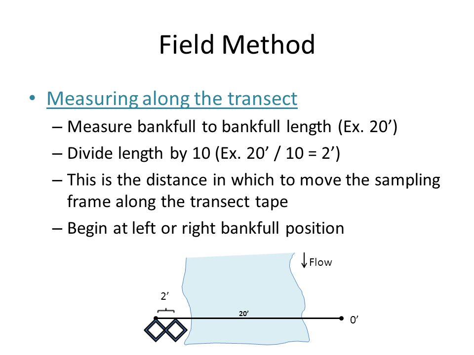 Field Method Measuring along the transect