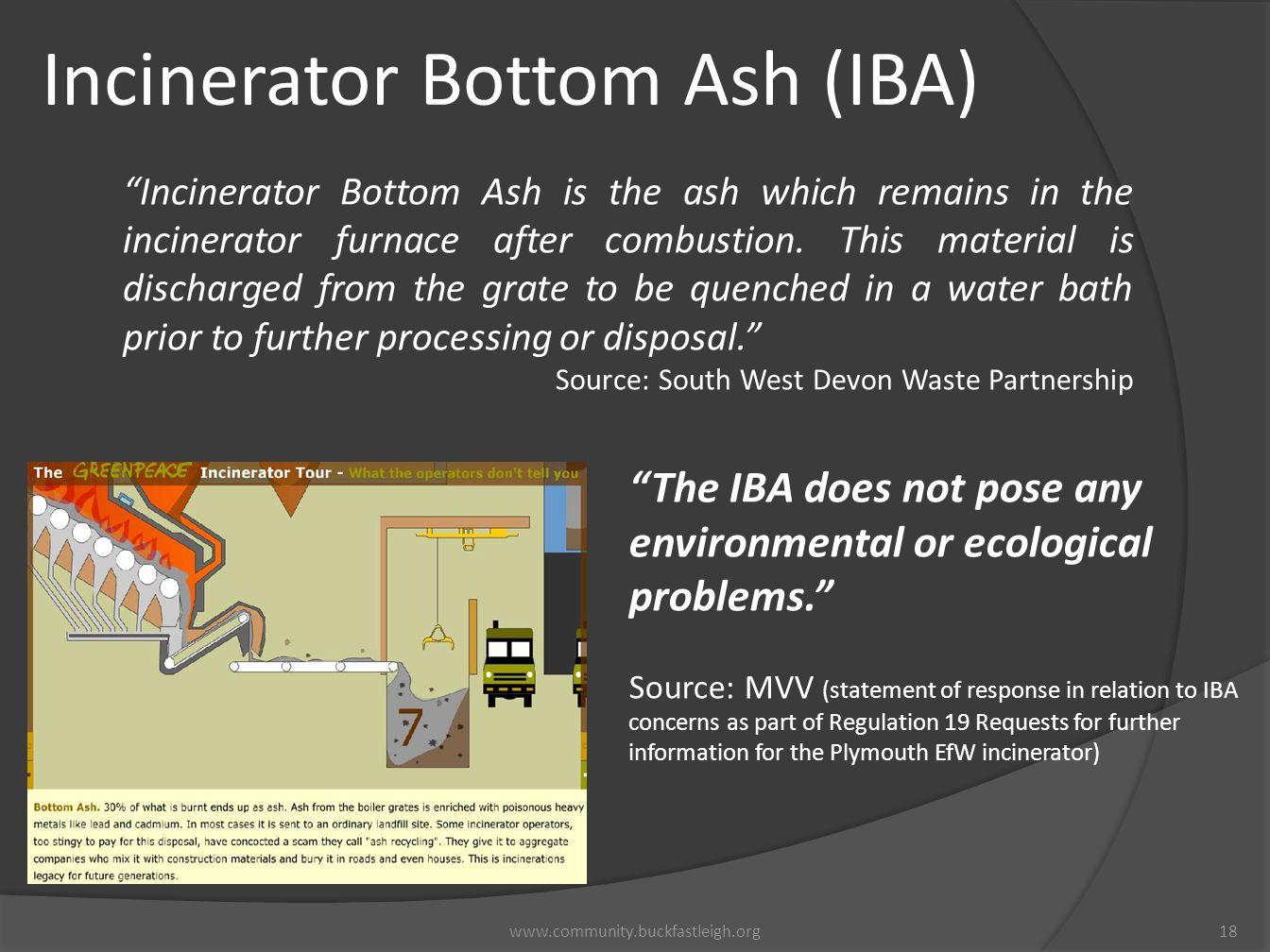 Incinerator Bottom Ash (IBA)