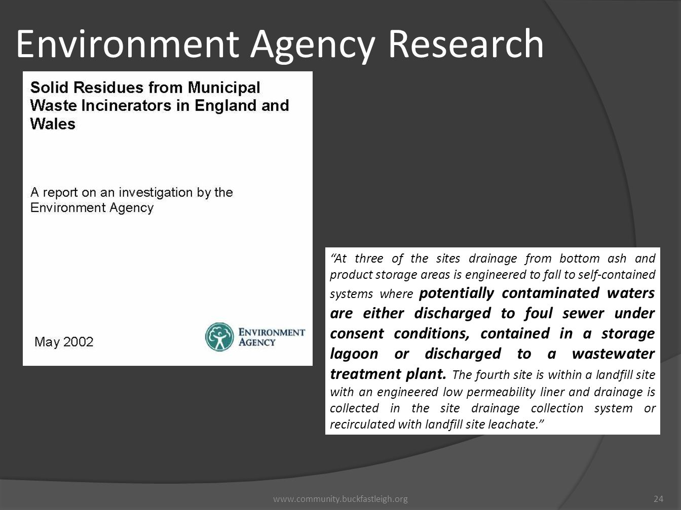 Environment Agency Research