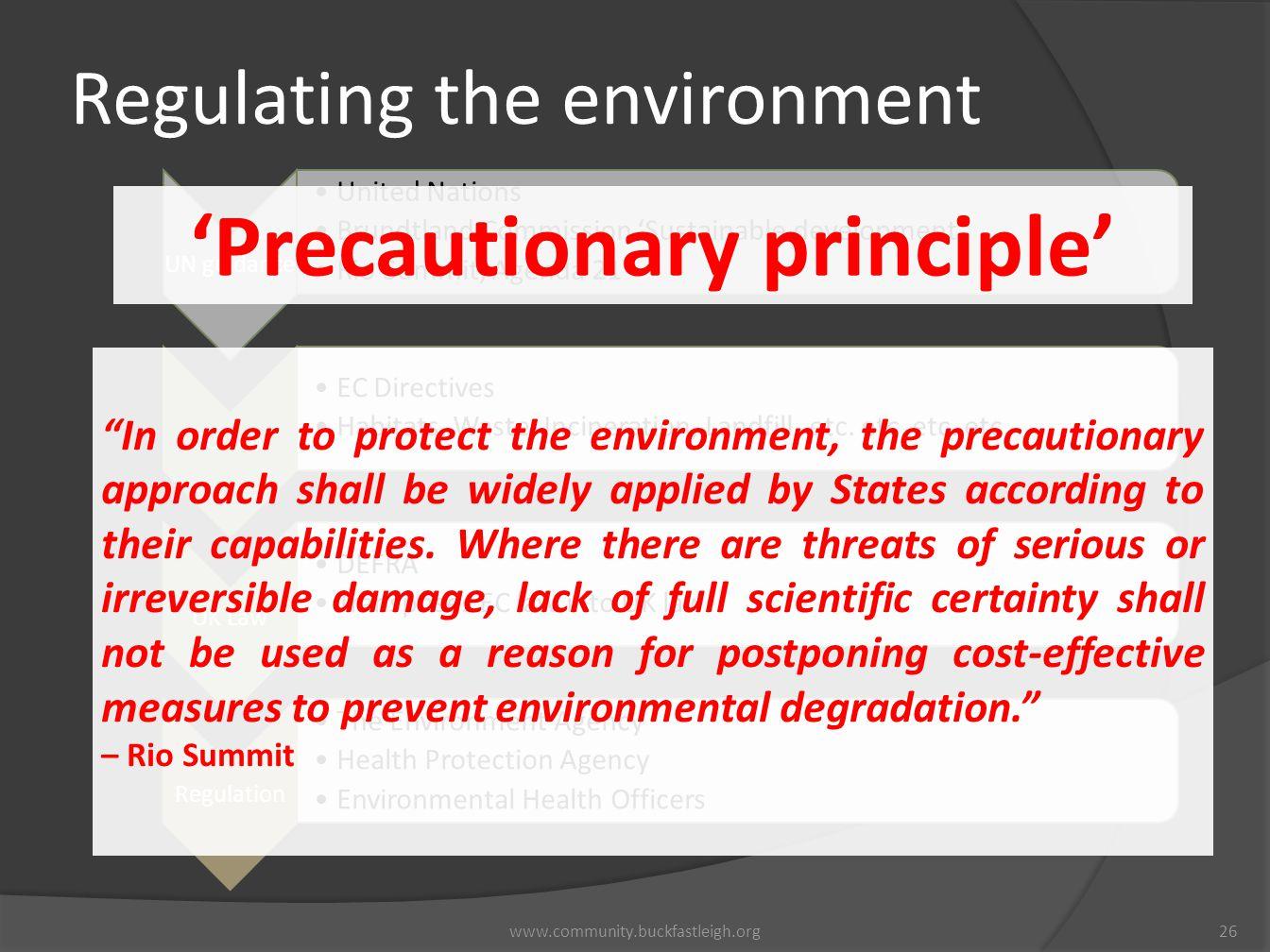 'Precautionary principle'