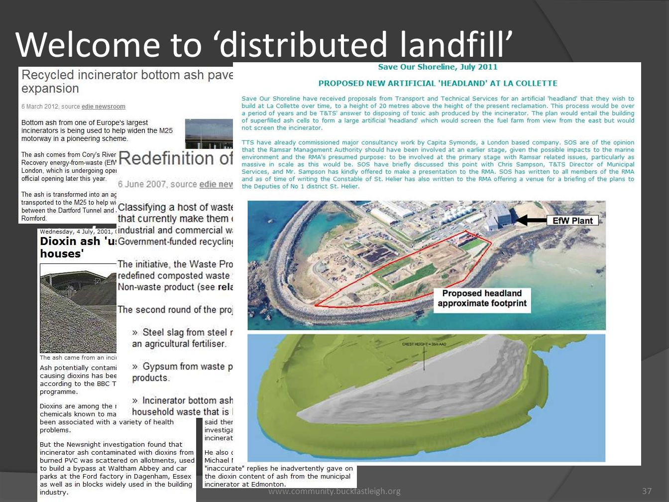 Welcome to 'distributed landfill'
