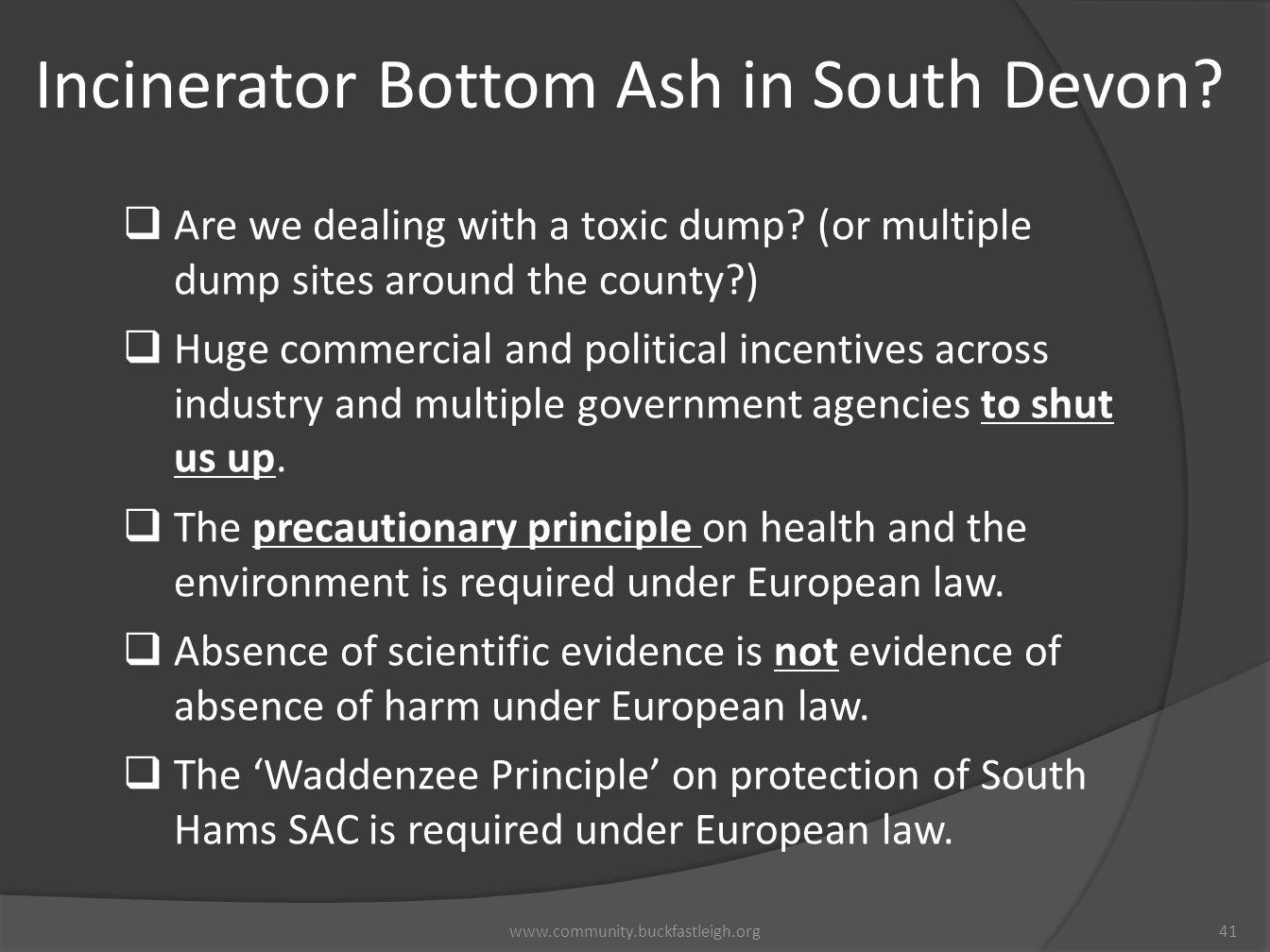 Incinerator Bottom Ash in South Devon