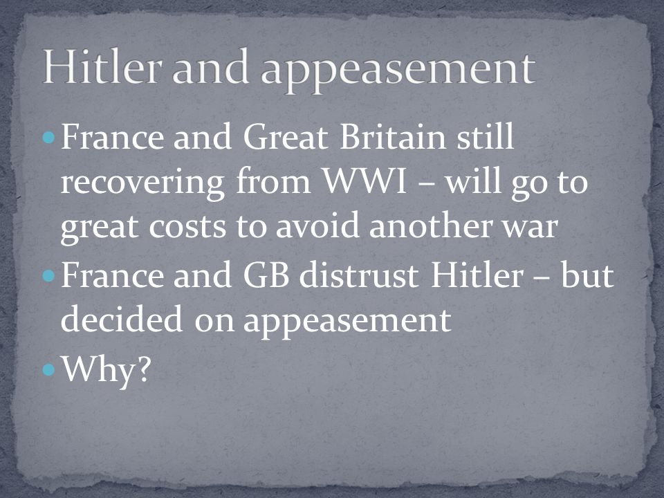 Hitler and appeasement