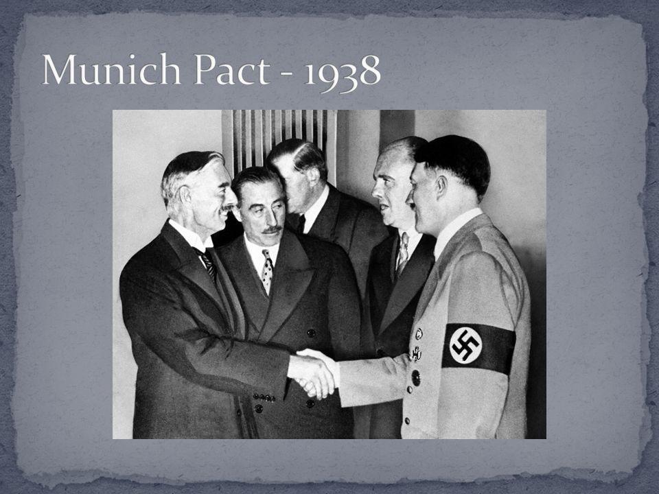 Munich Pact - 1938