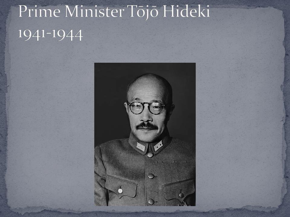Prime Minister Tōjō Hideki 1941-1944