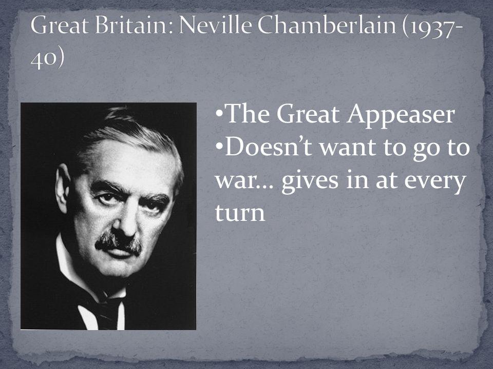 Great Britain: Neville Chamberlain (1937-40)