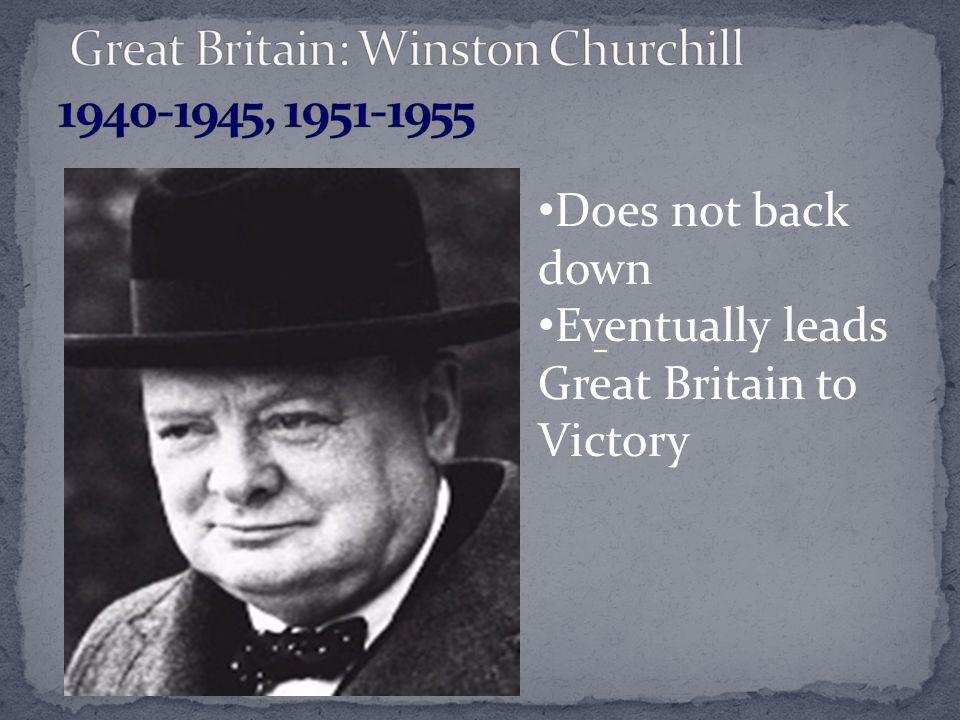 Great Britain: Winston Churchill 1940-1945, 1951-1955
