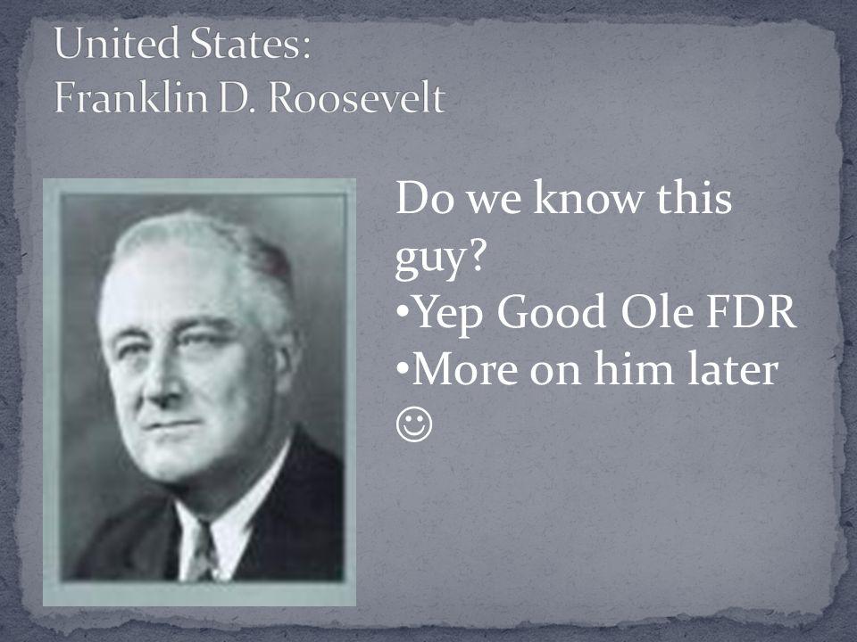 United States: Franklin D. Roosevelt