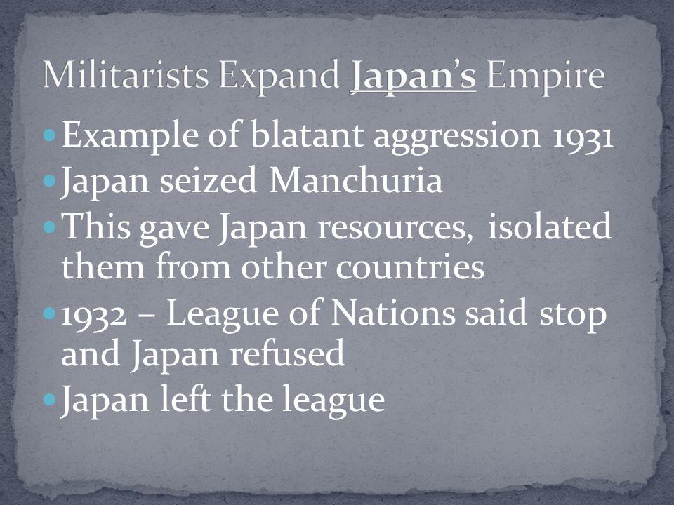 Militarists Expand Japan's Empire