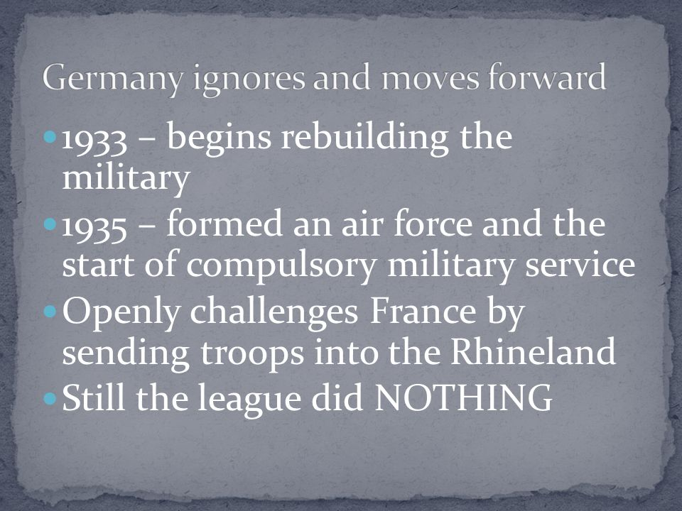 Germany ignores and moves forward