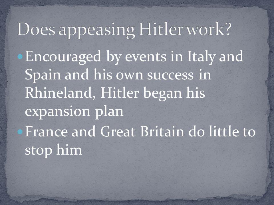 Does appeasing Hitler work