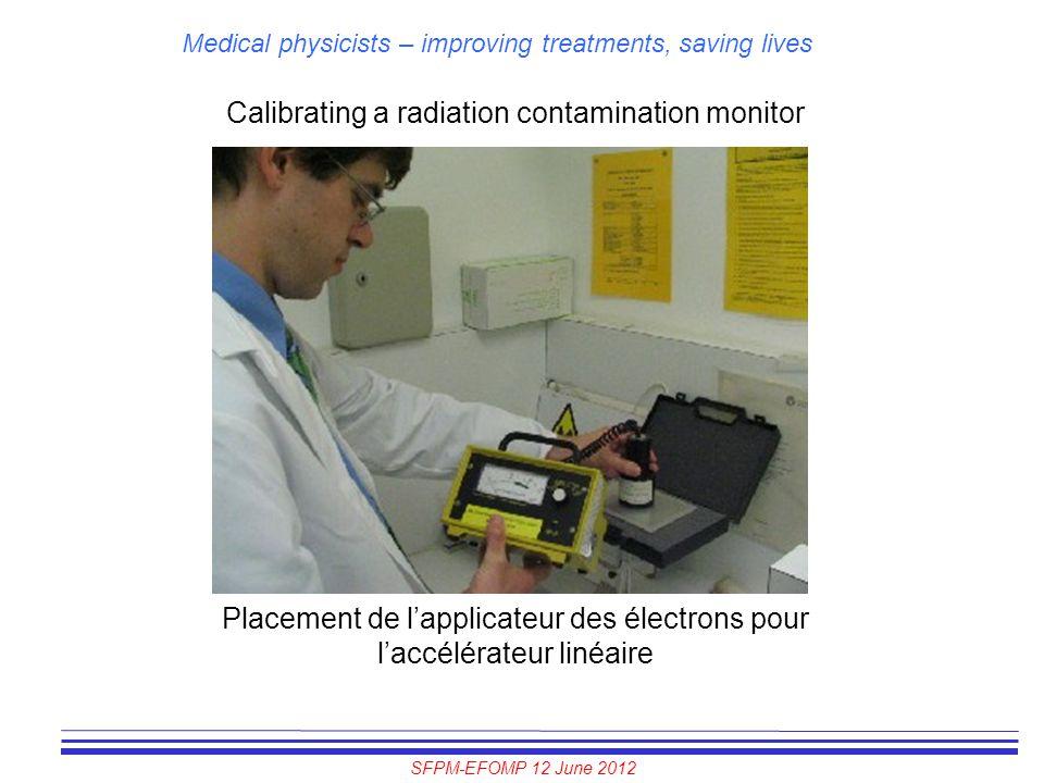 Calibrating a radiation contamination monitor