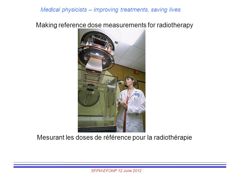Making reference dose measurements for radiotherapy