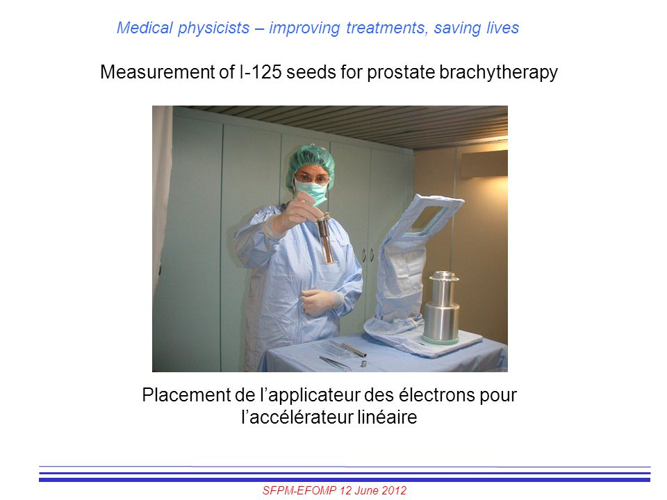 Measurement of I-125 seeds for prostate brachytherapy