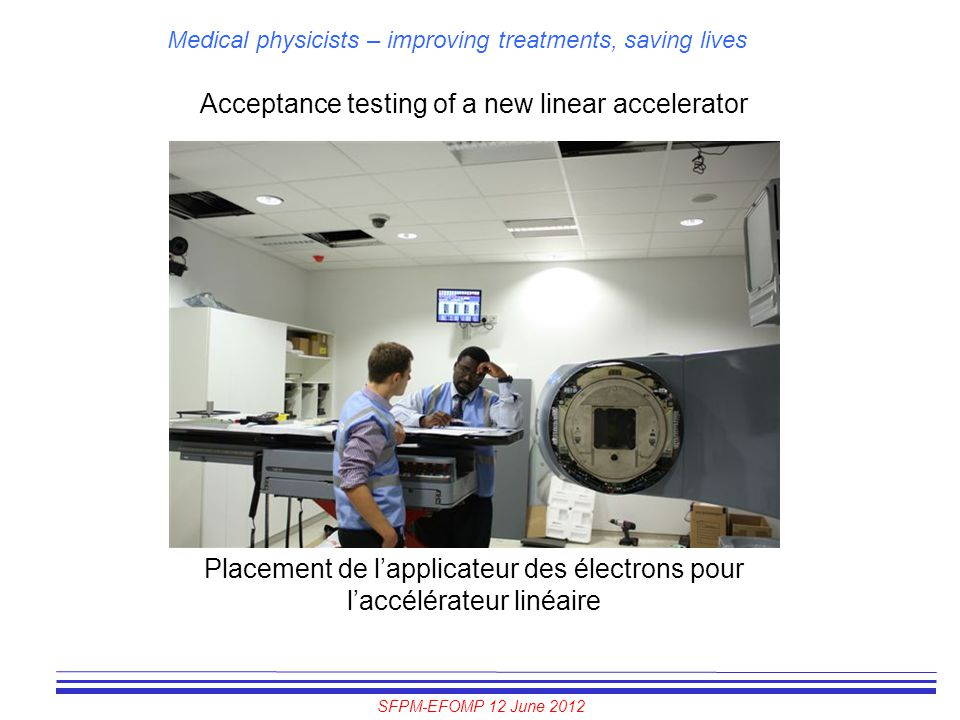 Acceptance testing of a new linear accelerator