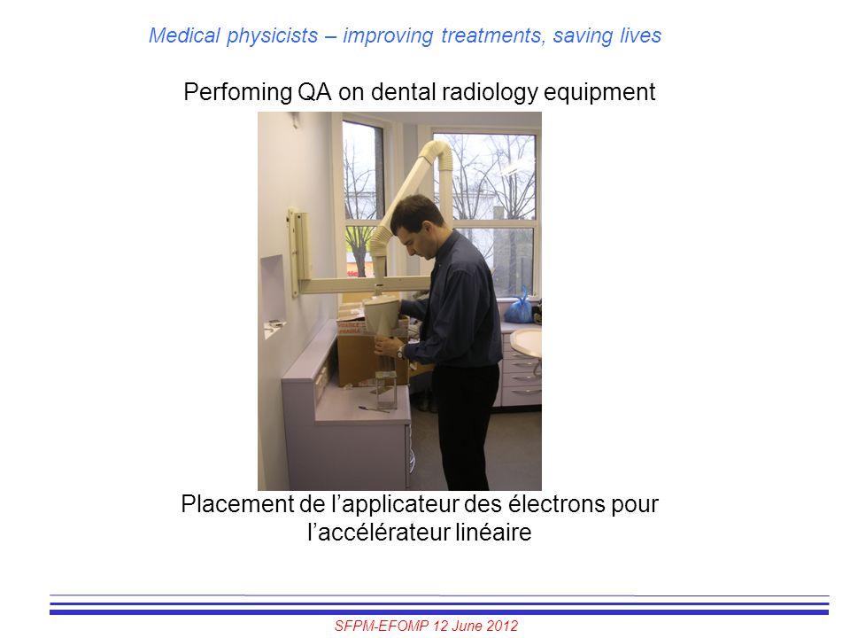 Perfoming QA on dental radiology equipment
