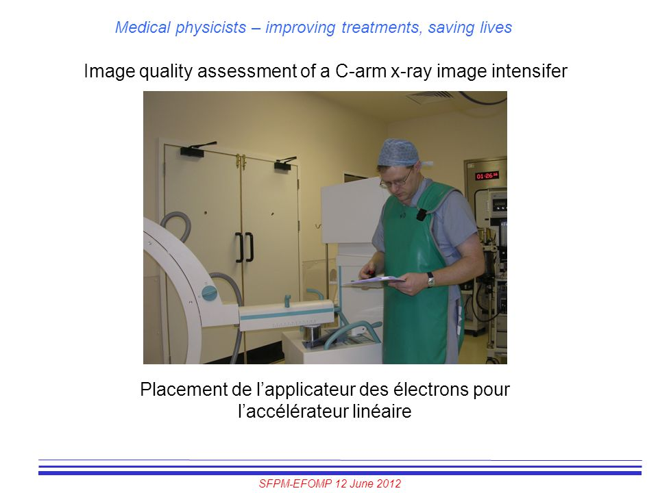 Image quality assessment of a C-arm x-ray image intensifer