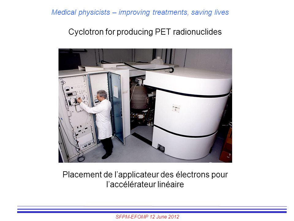 Cyclotron for producing PET radionuclides